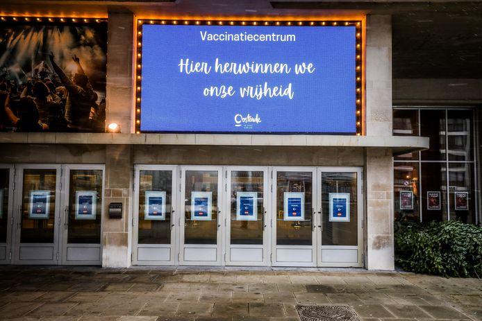 Het Casino Kursaal wordt het vaccinatiecentrum voor Oostende en omgeving.
