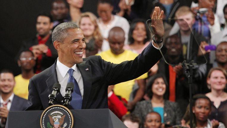 President Barack Obama in Johannesburg. Beeld epa