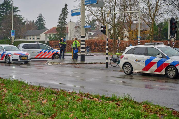 Fietser geschept door vluchtende man in Breda.