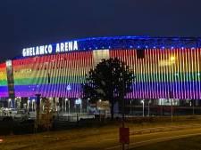 Ghelamco licht op in regenboogkleuren nadat UEFA dat weigert in München