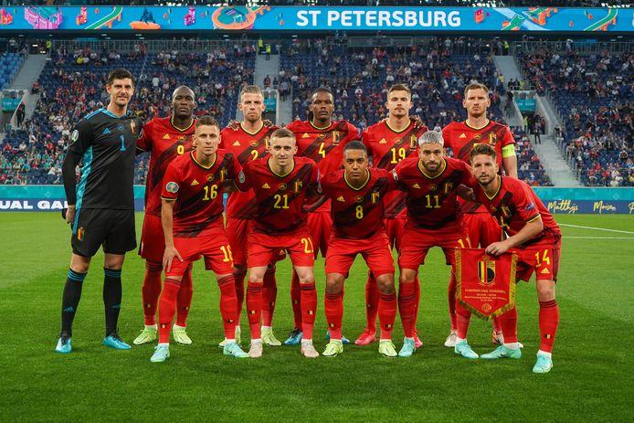 De Rode Duivels tijdens hun eerste EK-match tegen Rusland