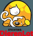 Het inmiddels landelijk bekende logo van DierenLot, van de hand van Jan Dirk Barreveld.
