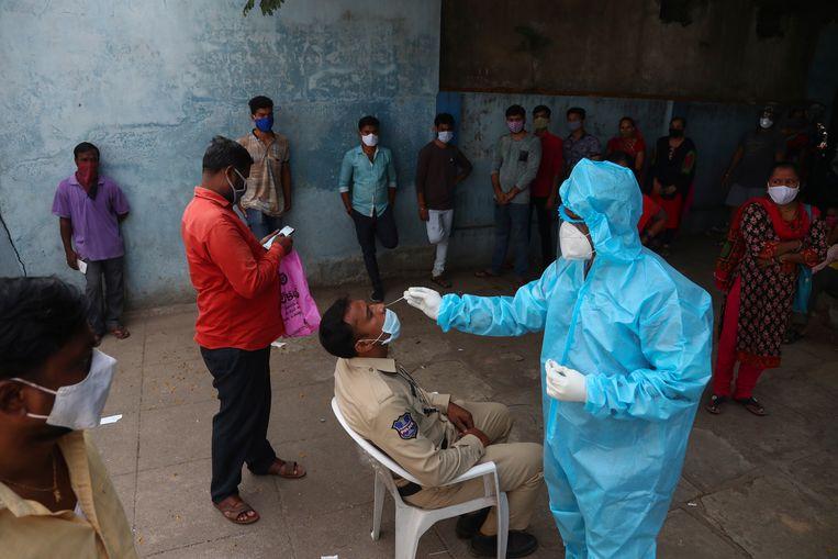 B.1.617 geldt voor de Wereldgezondheidsorganisatie (WHO) vooralsnog niet als zorgwekkend.  Beeld AP