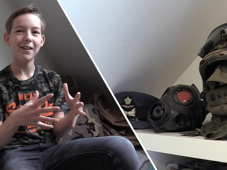 Dylan (13) heeft een oorlogsmuseum: 'Later wil ik loopgraven in de achtertuin'