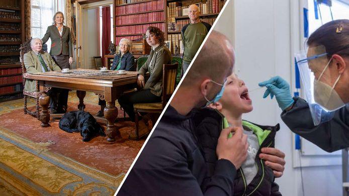 De familie Van Verschuer in de bibliotheek van Mariënwaerdt en de GGD Brabant Zuidoost zet 'kinderstraten' op.
