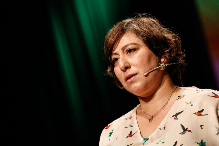 Groen-voorzitster Meyrem Almaci. Beeld BELGA