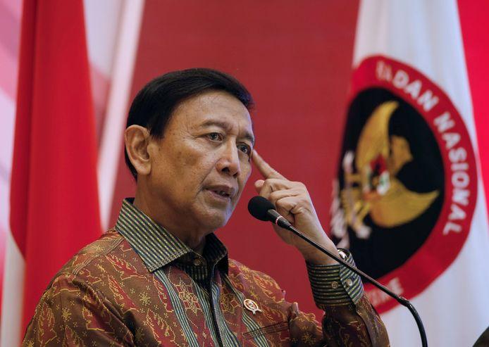 Veiligheidsminister Wiranto.