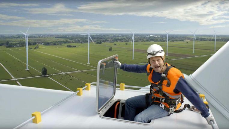 Commercial voor windenergie van Eneco, 2013. Beeld