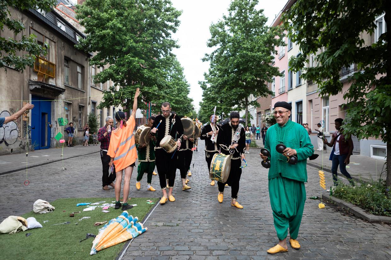 Het festival Manchester in Joy in Molenbeek. Beeld Siska Vandecasteele