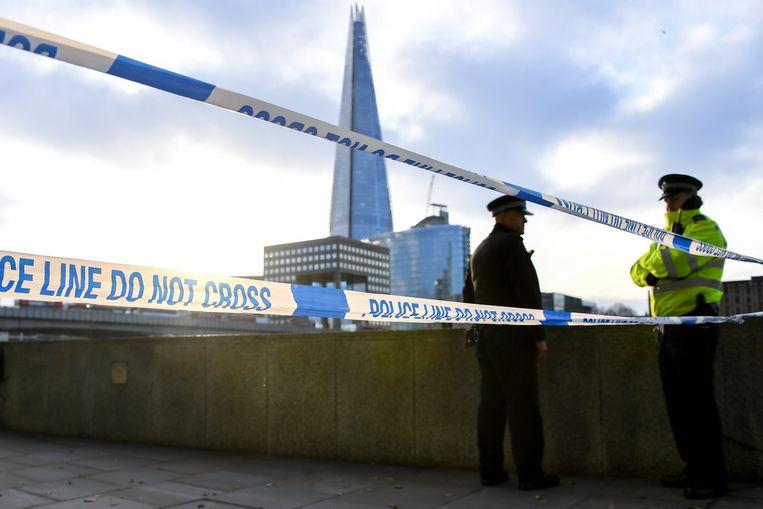 Op London Bridge vond vrijdag een dodelijke steekpartij plaats. Beeld AP