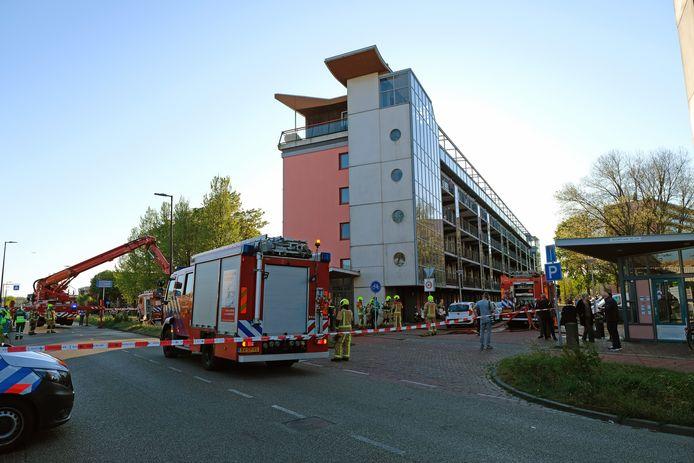 De brand in een appartementencomplex aan de Mozartlaan in Maassluis