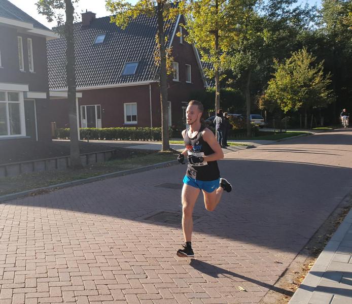 Melvin Franken uit Sprundel werd tweede bij de 10 kilometer.