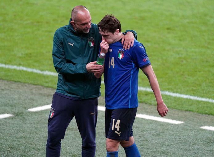 Federico Chiesa a quitté le terrain en larmes: ses larmes de tristesse se sont transformées en larmes de joie.