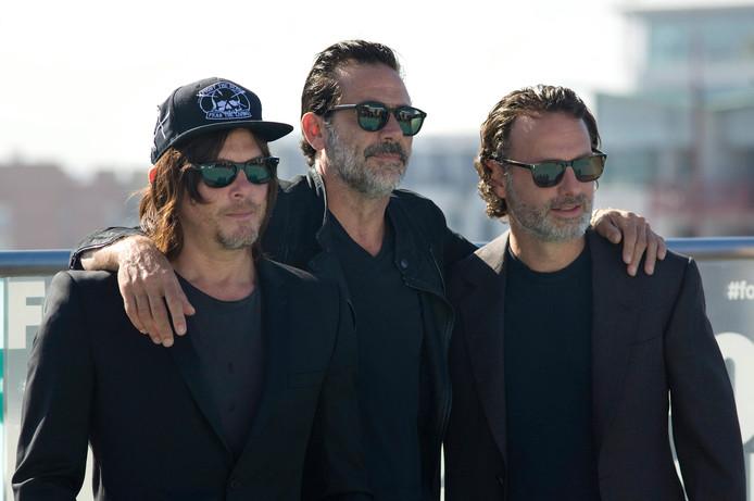 Norman Reedus, Jeffrey Dean Morgan en Andrew Lincoln, acteurs uit The Walking Dead.