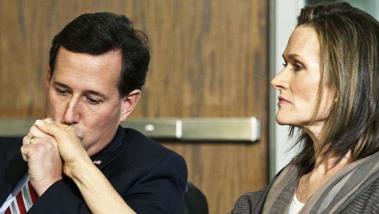 Rick Santorum en zijn echtgenote Karen. Beeld REUTERS