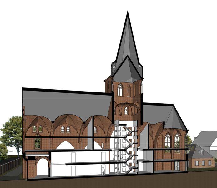 TenBrasWestinga Kerk artist-impression Stampersgat