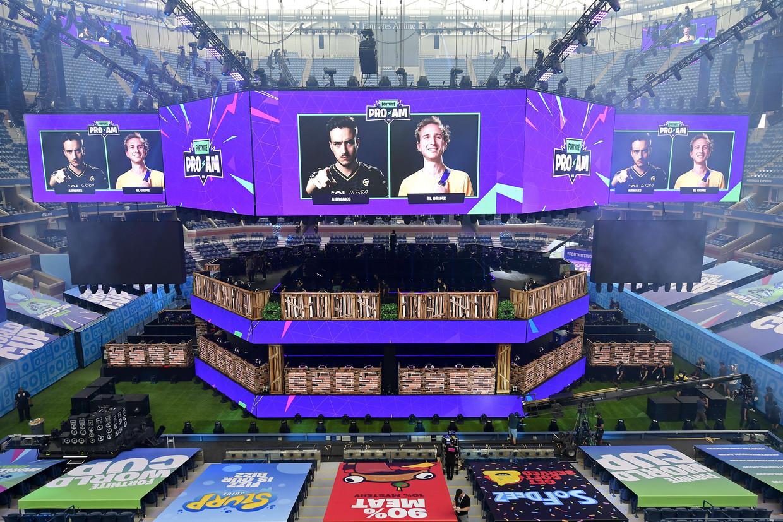 Het Arthur Ashe Stadium in New York waar het WK Fortnite dit weekend wordt gespeeld.