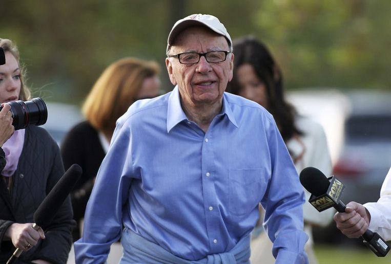 Rupert Murdoch trok gisteren de stekker uit News of the World. Beeld reuters