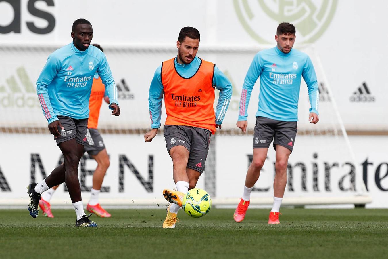 Eden Hazard, eerder op training bij Real.