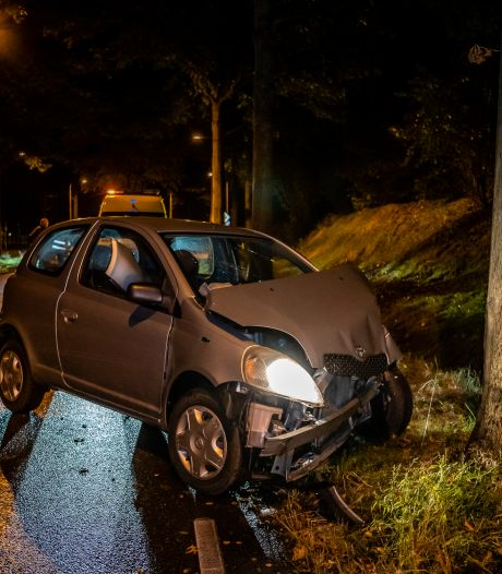 Twee inzittenden van auto gewond door botsing tegen boom in Tilburg