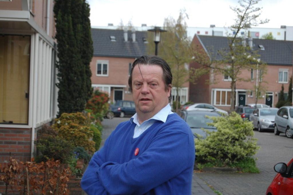 Bert van der Roest, ruim twee jaar geleden. Sinds bekend werd dat hij een greep in de kas van het Straatnieuws deed, vertoonde hij zich nog maar zelden in het openbaar.