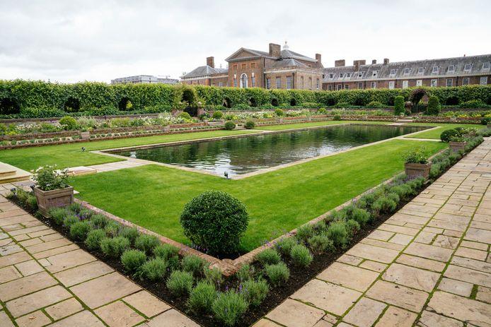 De Sunken Garden van Kensington Palace werd opnieuw aangelegd ter ere van Diana.