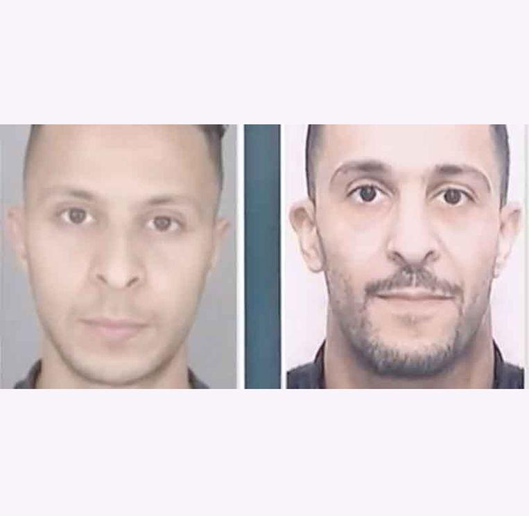 Salah (links) en Brahim Abdeslam. Beeld rv