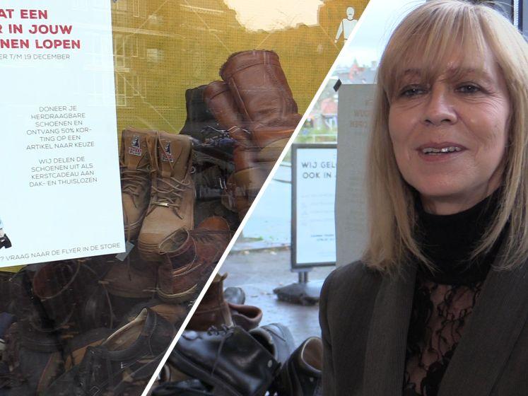 Bredase reshare store zamelt schoenen in voor daklozen: 'Het loopt storm'