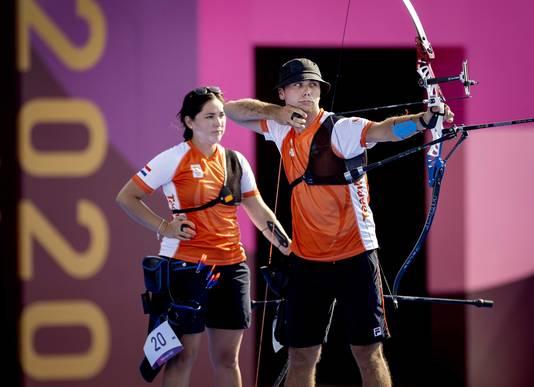 Gabriela Schloesser en Steve Wijler (rechts).