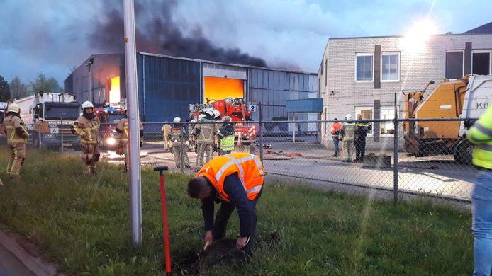Brand bij Knol Papierrecycling in Hengelo