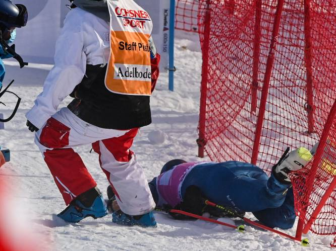 Skiër Ford komt zwaar ten val tijdens reuzenslalom in Adelboden, blessures minder erg dan gevreesd