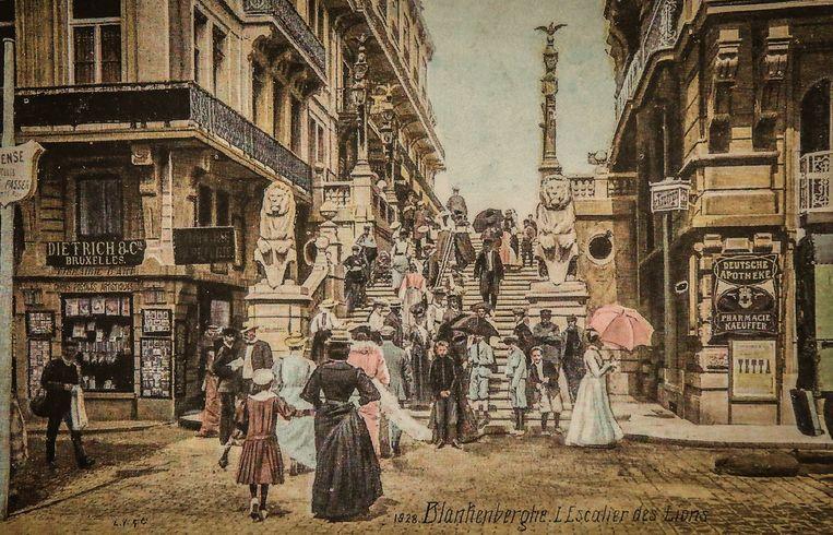 Het begin van de Kerkstraattrap.
