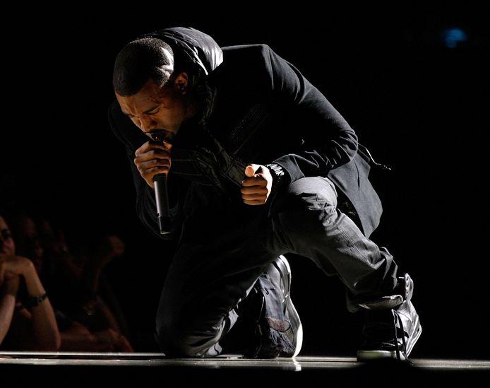 Kanye West tijdens de Grammy awards in 2008.