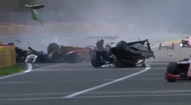 De crash. Beeld RV