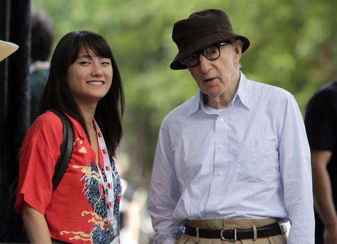 Woody Allen et sa fille Dylan Farrow en 2019.