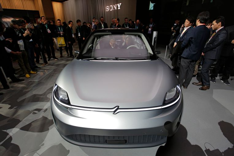 De Sony Vision-S electric concept car. Beeld AP
