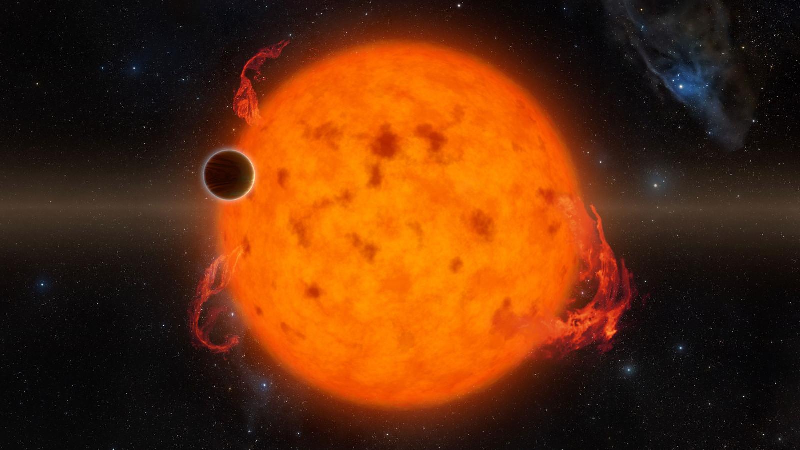 De exoplaneet K2-33 bevindt zich in het sterrenbeeld Schorpioen op 470 lichtjaar van ons.