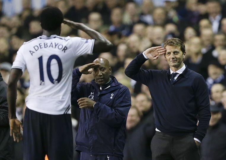 Kapper Rob Albeury wil bij Tottenham Hotspur de opvolger worden van coach Tim Sherwood (rechts).