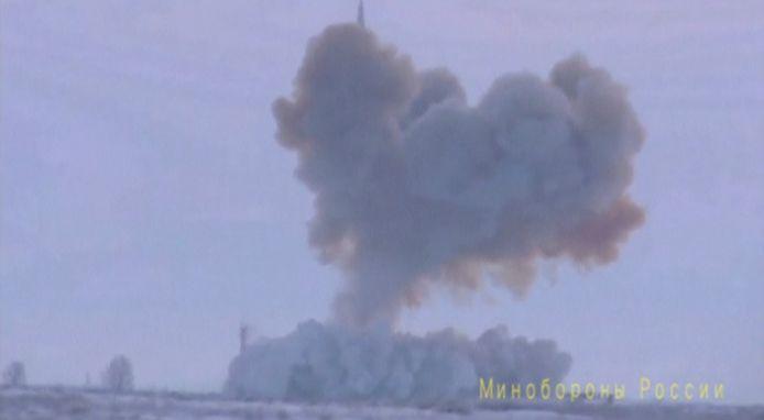 Extrait d'une vidéo d'essai d'un missile Avangard, diffusée en 2018