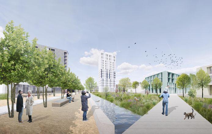 Impressie van de nieuwe woonwijk rond het ziekenhuis Velp.