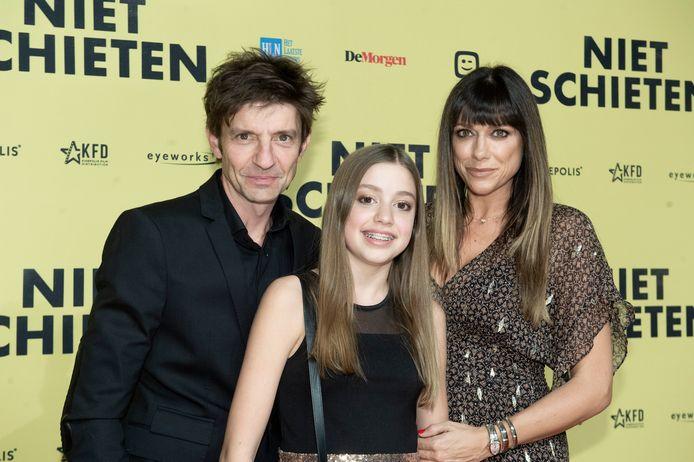 Koen Wauters met zijn ex-partner Valerie De Booser en hun dochter Zita Wauters