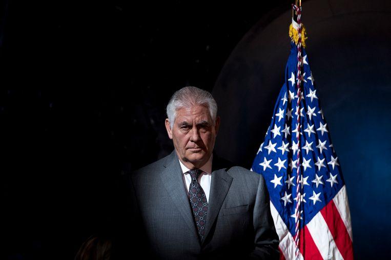 Amerikaans minister van Buitenlandse Zaken Rex Tillerson. Beeld AP
