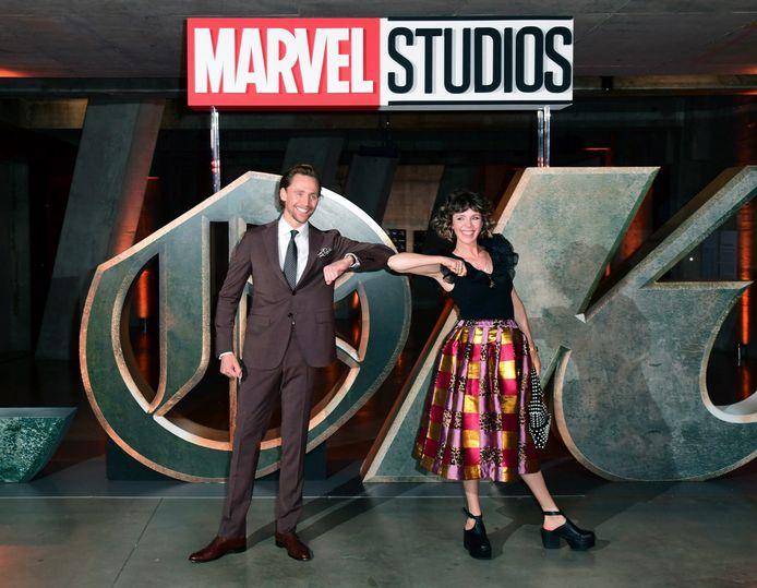 Tom Hiddleston met Sophia Di Martino, die de vrouwelijke versie van zijn personage Loki speelt.