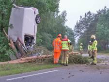 Bestelbusje gelanceerd bij ongeluk in Ermelo, één persoon gewond