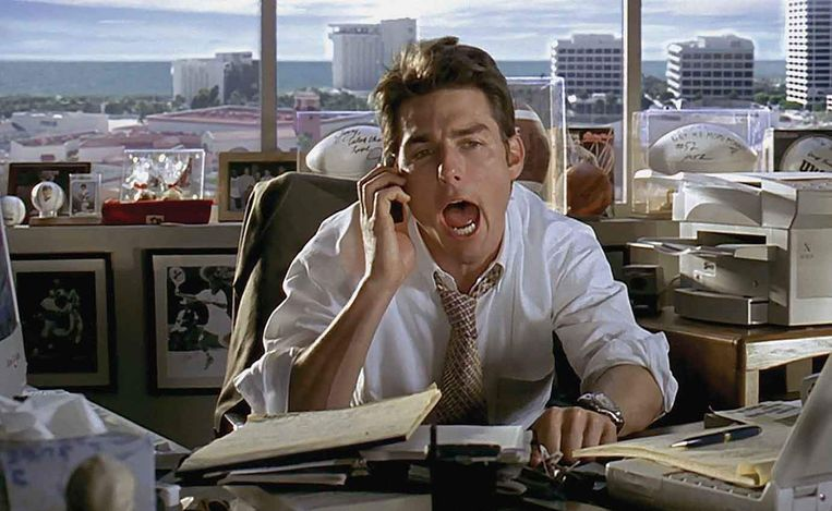 Tom Cruise in Jerry Maguire. Beeld gg