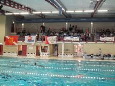 Politie, brandweer en ambulancepersoneel zwemmen hele nacht voor het goede doel