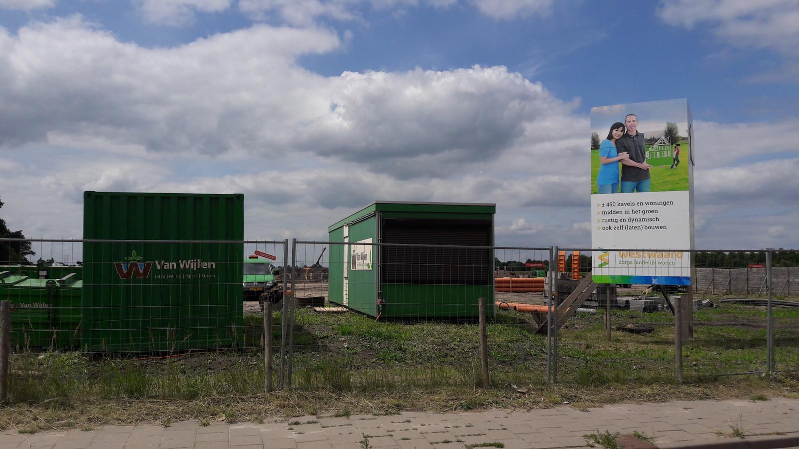 Ten westen van de Sweensstraat komt de nieuwe Kaatsheuvelse wijk Westwaard.