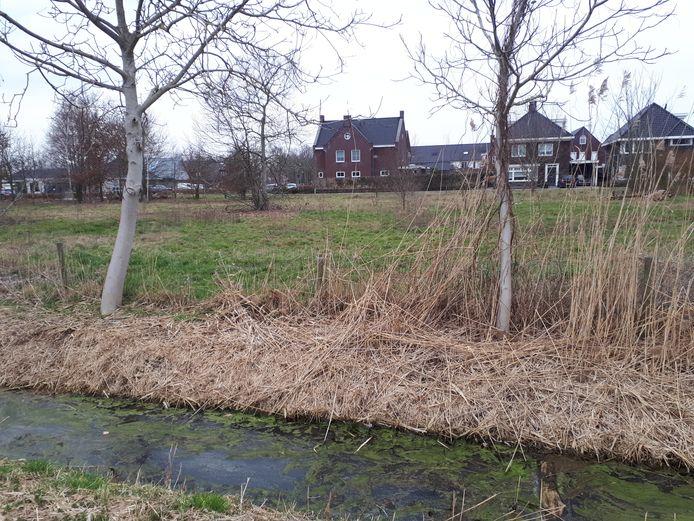 Het nu nog onbebouwde deel tussen de Groenstraat en Den Herd in Geffen.