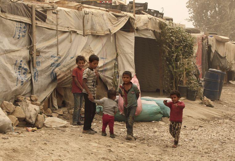 Onderwijs voor vluchtelingenkinderen is er nauwelijks. Beeld AP