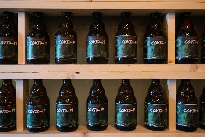 Er is ook Covid-bier te verkrijgen.